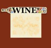 Abstrakcjonistyczna napoju tła alkoholu wina butelka Zdjęcia Royalty Free