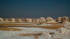 Abstrakcjonistyczna natura rzeźbi w biel pustyni, Sahara, Egipt Fotografia Stock