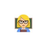 Abstrakcjonistyczna nauczyciela emoticon ilustracja Zdjęcie Stock
