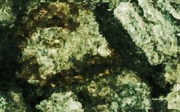 Abstrakcjonistyczna niska wieloboka brązu koloru tapeta Obrazy Royalty Free