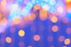 Abstrakcjonistyczna noc zaświeca bokeh tło Obrazy Royalty Free