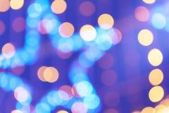 Abstrakcjonistyczna noc zaświeca bokeh tło Fotografia Royalty Free