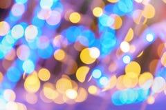 Abstrakcjonistyczna noc zaświeca bokeh tło Zdjęcie Royalty Free