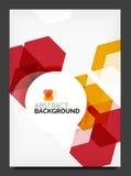 Abstrakcjonistyczna nowożytna ulotka - broszurka szablon Zdjęcia Stock
