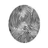 Abstrakcjonistyczna odcisk palca ikona na białym kwadratowym papierze Obraz Stock