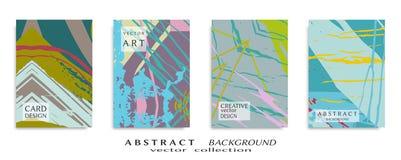 Abstrakcjonistyczna ogólnoludzka grunge sztuki tekstura, muśnięć uderzenia, szkotowy a4 set fotografia royalty free