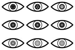 Abstrakcjonistyczna oko ikona Zdjęcia Stock