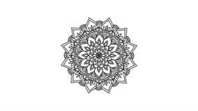 Abstrakcjonistyczna ornamentacyjna cyfrowa ręka rysujący mandala materiał filmowy Kwiecistych rocznika tatuażu dekoracyjnych elem zdjęcie wideo