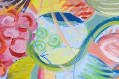abstrakcjonistyczna owoc Obraz Royalty Free
