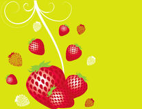 abstrakcjonistyczna owocowa ilustracyjna czerwona truskawka Zdjęcia Stock