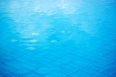 Abstrakcjonistyczna pływackiego basenu woda jako tło Fotografia Stock