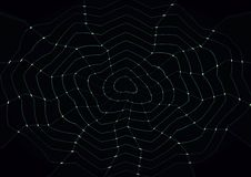 Abstrakcjonistyczna pająk pajęczyny bielu tapeta Obrazy Royalty Free