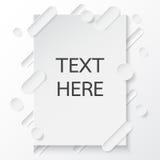 Abstrakcjonistyczna papierowa karta z papierowym sztuka stylem Zdjęcie Stock
