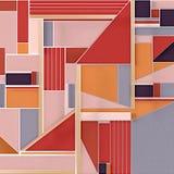 Abstrakcjonistyczna piękna koloru 3d tła tapeta ilustracji