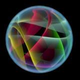 Abstrakcjonistyczna piłka (3D xray multicoloured i błękitny przejrzysty) ilustracja wektor