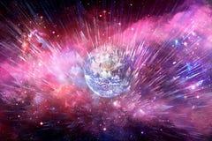 Abstrakcjonistyczna planeta W mgławicy galaktyce Wybucha W Głęboką przestrzeń zdjęcia royalty free