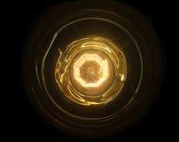 Abstrakcjonistyczna pożarnicza piłka z sednem wewnętrznym i ringowym Technologii źródła zasilania pojęcie Zamyka up pod żarówką Obraz Royalty Free