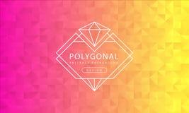 Abstrakcjonistyczna poligonalna różowa żółta tło tekstura, różowy kolor żółty textured, sztandaru wieloboka tła, wektorowa ilustr ilustracja wektor