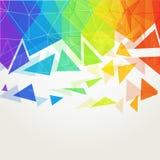 Abstrakcjonistyczna poligonalna tęcza background2 Fotografia Stock
