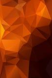 Abstrakcjonistyczna pomarańcze z brown tło wielobokiem. Obraz Stock