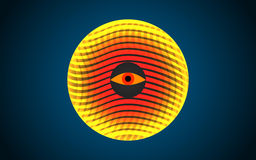 Abstrakcjonistyczna pomarańczowa bańczasta barwiona forma, odosobniona na bielu Zdjęcia Royalty Free