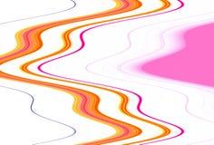 Abstrakcjonistyczna pomarańczowa miękka kurenda wykłada na białym tle fotografia stock