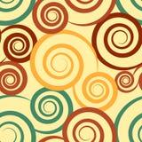 Abstrakcjonistyczna pomarańcze i zielony bezszwowy Obrazy Stock
