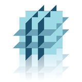 abstrakcjonistyczna postać geometic odbicie Zdjęcie Royalty Free