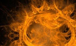 abstrakcjonistyczna postać ogień Fotografia Royalty Free