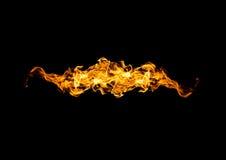 Abstrakcjonistyczna postać ogień Zdjęcie Royalty Free