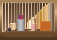 Abstrakcjonistyczna powystawowa wektorowa ilustracja Obraz Stock
