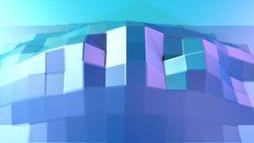 Abstrakcjonistyczna prosta błękitna fiołkowa niska poli- 3D powierzchnia jak cybernetycznego pole Miękki geometryczny niski poli- ilustracja wektor