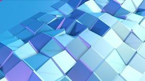 Abstrakcjonistyczna prosta błękitna fiołkowa niska poli- 3D powierzchnia jako cybernetyczny tło Miękki geometryczny niski poli- r ilustracja wektor