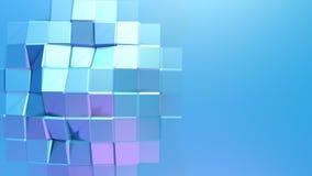 Abstrakcjonistyczna prosta błękitna fiołkowa niska poli- 3D powierzchnia jako elegancki 3D tło Miękki geometryczny niski poli- ru royalty ilustracja