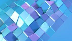 Abstrakcjonistyczna prosta błękitna fiołkowa niska poli- 3D powierzchnia jako fantazi tło Miękki geometryczny niski poli- ruchu t ilustracja wektor