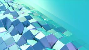 Abstrakcjonistyczna prosta błękitna fiołkowa niska poli- 3D powierzchnia jako psychodeliczny tło Miękki geometryczny niski poli-  ilustracja wektor