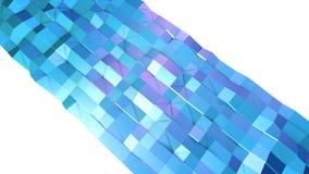 Abstrakcjonistyczna prosta błękitna fiołkowa niska poli- 3D powierzchnia jako sztuki środowisko Miękki geometryczny niski poli- r ilustracja wektor