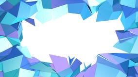 Abstrakcjonistyczna prosta błękitna fiołkowa niska poli- 3D rozłamu powierzchnia jako elegancki tło Miękki geometryczny niski pol royalty ilustracja