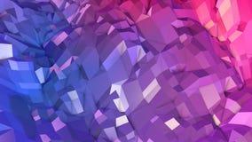 Abstrakcjonistyczna prosta błękitnej czerwieni niska poli- 3D powierzchnia jako geometryczna siatka Miękki geometryczny niski pol ilustracja wektor
