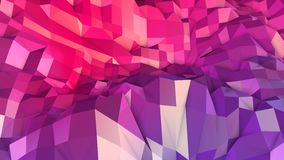 Abstrakcjonistyczna prosta błękitnej czerwieni niska poli- 3D powierzchnia jako kreskówki tło Miękki geometryczny niski poli- ruc ilustracja wektor
