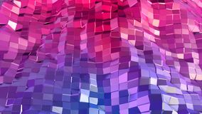 Abstrakcjonistyczna prosta błękitnej czerwieni niska poli- 3D powierzchnia jako młodości tło Miękki geometryczny niski poli- ruch ilustracja wektor