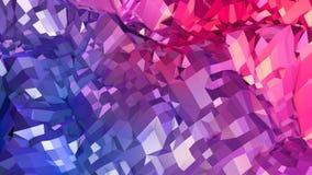 Abstrakcjonistyczna prosta błękitnej czerwieni niska poli- 3D powierzchnia jako matematyki środowisko Miękki geometryczny niski p royalty ilustracja