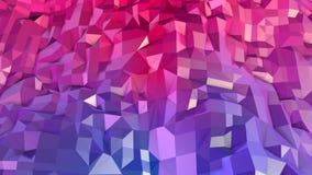 Abstrakcjonistyczna prosta błękitnej czerwieni niska poli- 3D powierzchnia jako piękny tło Miękki geometryczny niski poli- ruchu  royalty ilustracja