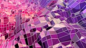 Abstrakcjonistyczna prosta błękitnej czerwieni niska poli- 3D powierzchnia jako prosty tło Miękki geometryczny niski poli- ruchu  royalty ilustracja