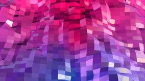 Abstrakcjonistyczna prosta błękitnej czerwieni niska poli- 3D powierzchnia jako tło Miękki geometryczny niski poli- ruchu tło z c royalty ilustracja