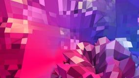 Abstrakcjonistyczna prosta błękitnej czerwieni niska poli- 3D powierzchnia jako wymarzony tło Miękki geometryczny niski poli- ruc royalty ilustracja