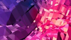 Abstrakcjonistyczna prosta błękitnej czerwieni niska poli- 3D powierzchnia jako złożoności tło Miękki geometryczny niski poli- ru royalty ilustracja