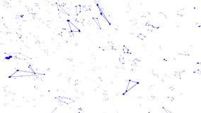 Abstrakcjonistyczna prosta fiołkowa macha 3D siatka lub siatka jako futurystyczny tło Fiołkowy geometryczny rozedrgany środowisko royalty ilustracja
