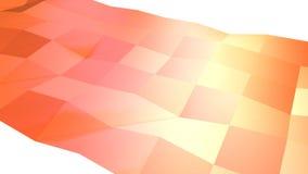 Abstrakcjonistyczna prosta różowa pomarańczowa niska poli- 3D powierzchnia jako Abstrakcjonistyczny prosty tło Miękki geometryczn ilustracji