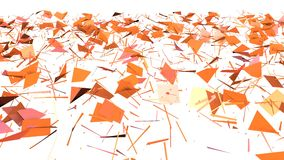 Abstrakcjonistyczna prosta różowa pomarańczowa niska poli- 3D rozłamu powierzchnia jako mody tło Miękki geometryczny niski poli-  zbiory